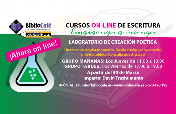 LABORATORIO ONLINE DE CREACIÓN POÉTICA BIBLIOCAFÉ