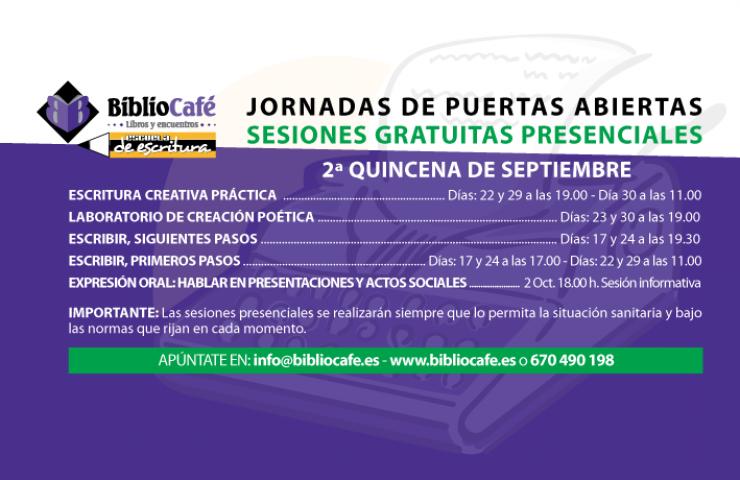 JORNADAS DE PUERTAS Y PANTALLAS ABIERTAS DEL LABORATORIO DE CREACIÓN POÉTICA BIBLIOCAFÉ