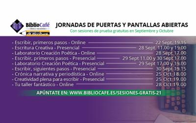 JORNADAS DE PUERTAS Y PANTALLAS ABIERTAS BIBLIOCAFÉ